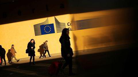 Brexitminister Stephen Barclay møter mandag kveld EUs sjefforhandler Michel Barnier her i EU-hovedkvarteret i Brussel til en ny runde med samtaler om skilsmisseavtalen mandag kveld.