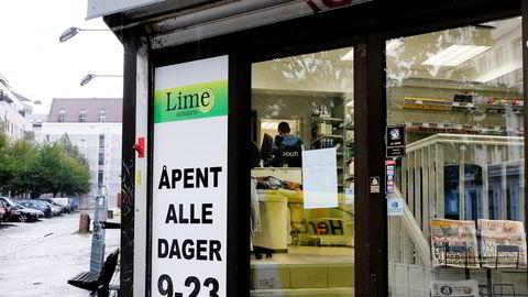 Politiet har siktet seg inn mot bakmennene i Lime-kjeden. Her fra en forretning på Grønland, Oslo. Foto: Torstein Bøe /