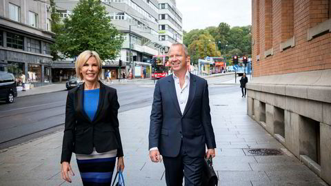 Administrerende direktær Cecilie Grue og styreleder Lars Christian Beitnes i Element.