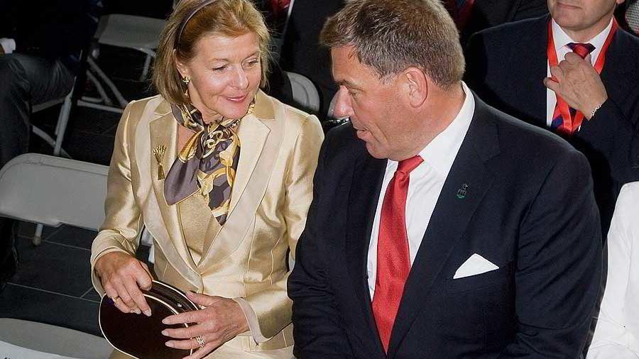 Milliardær-paret Mille-Marie Treschow og Stein Erik Hagen.