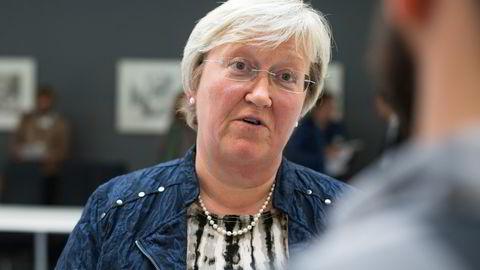 Europaminister Elisabeth Aspaker om konsekvensene avBrexit. Foto: Audun Braastad /