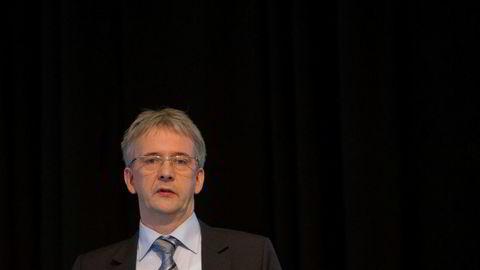 Konsernsjef Regin Jacobsen i Bakkafrost er veldig fornøyd med resultatene selskapet la frem sett i lys av fallet i lakseprisene. Foto: Gunnar Lier