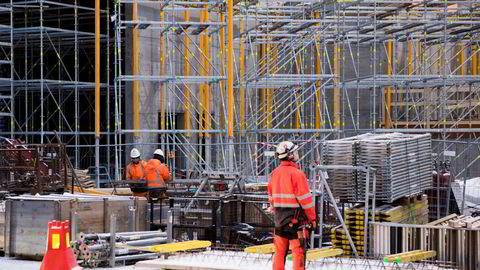 Flere i byggebransjen jobber heltid eller med høyere stillingsbrøk enn tidligere.