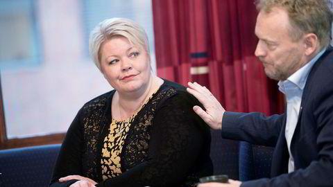 Næringsbyråd Marthe Scharning Lund i Oslo kommune vil ikke gi fra seg en milliard uten kamp. Her sammen med byrådsleder og partikollega Raymond Johansen.