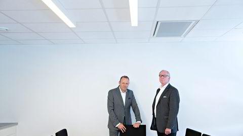 Styreleder Roar Engelstad (til venstre) i Warren Capital og styreleder Ola Sundt Ravnestad i Warren as mener 200 millioner kroner gikk tapt da Warren Capital mistet konsesjonen. Foto: Aleksander Nordahl