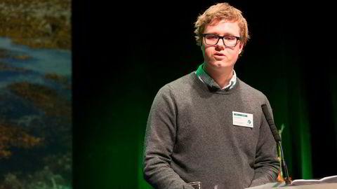 Unge Venstres leder Tord Hustveit. Foto: Terje Bendiksby / NTB scanpix