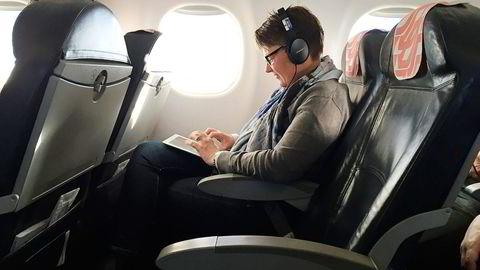 Klimaminister Tine Sundtoft fløy hjem fra Paris søndag med et tøffere klimamål i vesken. Foto: Kjetil B. Alstadheim