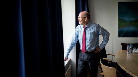 Dag W. Holter følger britenes historiske valg med argusøyne fra Eftas kontorer noen hundre meter fra EU-kommisjonens kontorer på Schuman i Brussel. Foto: Tommy Ellingsen