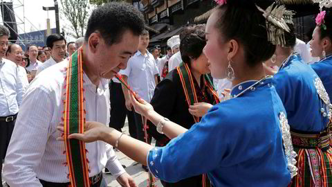 Wang Jianlin har bygd opp et av Kinas største privateide selskaper. Målet har vært å kopiere Disney-modellen i Kina og i verden. Foto: AFP/NTB Scanpix
