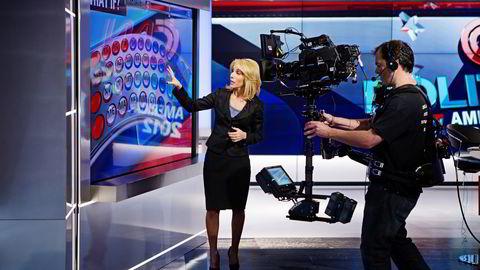 Vizrt har revolusjonert TV-grafikkbransjen. Her bruker den amerikanske nyhetskanalen CNN selskapets teknologi under den amerikanske valgkampen i 2012. Foto: Linda Varsell