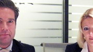 Monika Dypeng og Per Christian Blom i Hermes Headhunting.