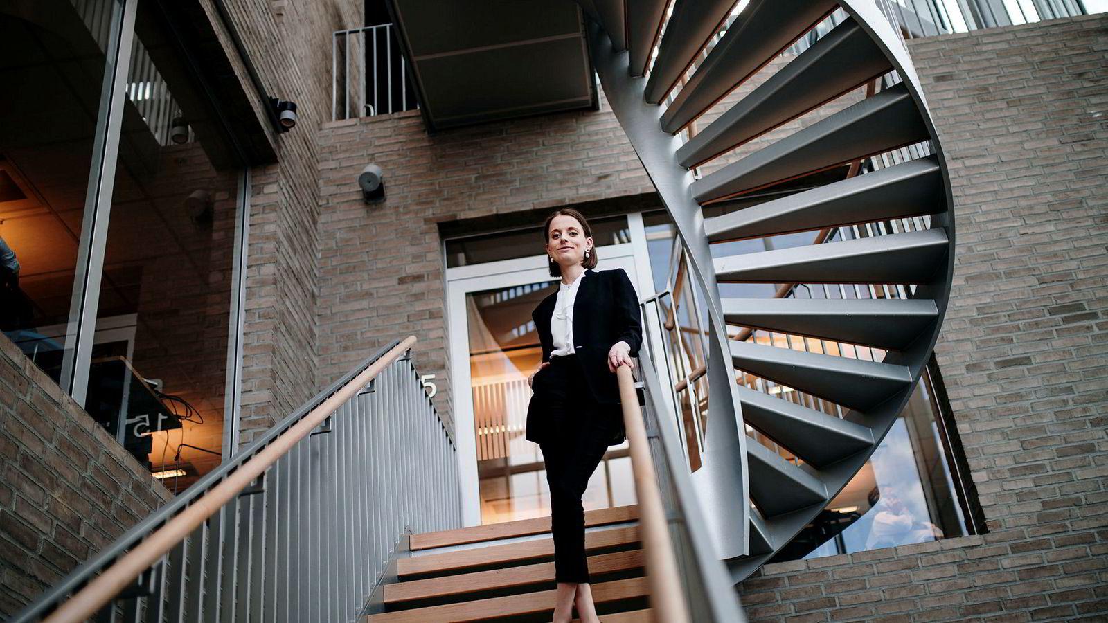 Ine Oftedahl (28) er Communications Director i New Business Data i DNB og leder Ung i Finans. Hun har inntrykk av at lønn er tabubelagt å snakke om.