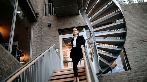 Ine Oftedahl (28) er Communications Director i New Business Data i DNB og leder Ung i Finans. Hun har inntrykk av at lønn er tabubelagt å snakke om.