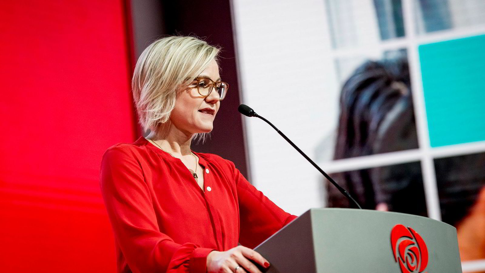 Helsepolitisk talsperson i Arbeiderpartiet, Ingvild Kjerkol, under landsmøtet.