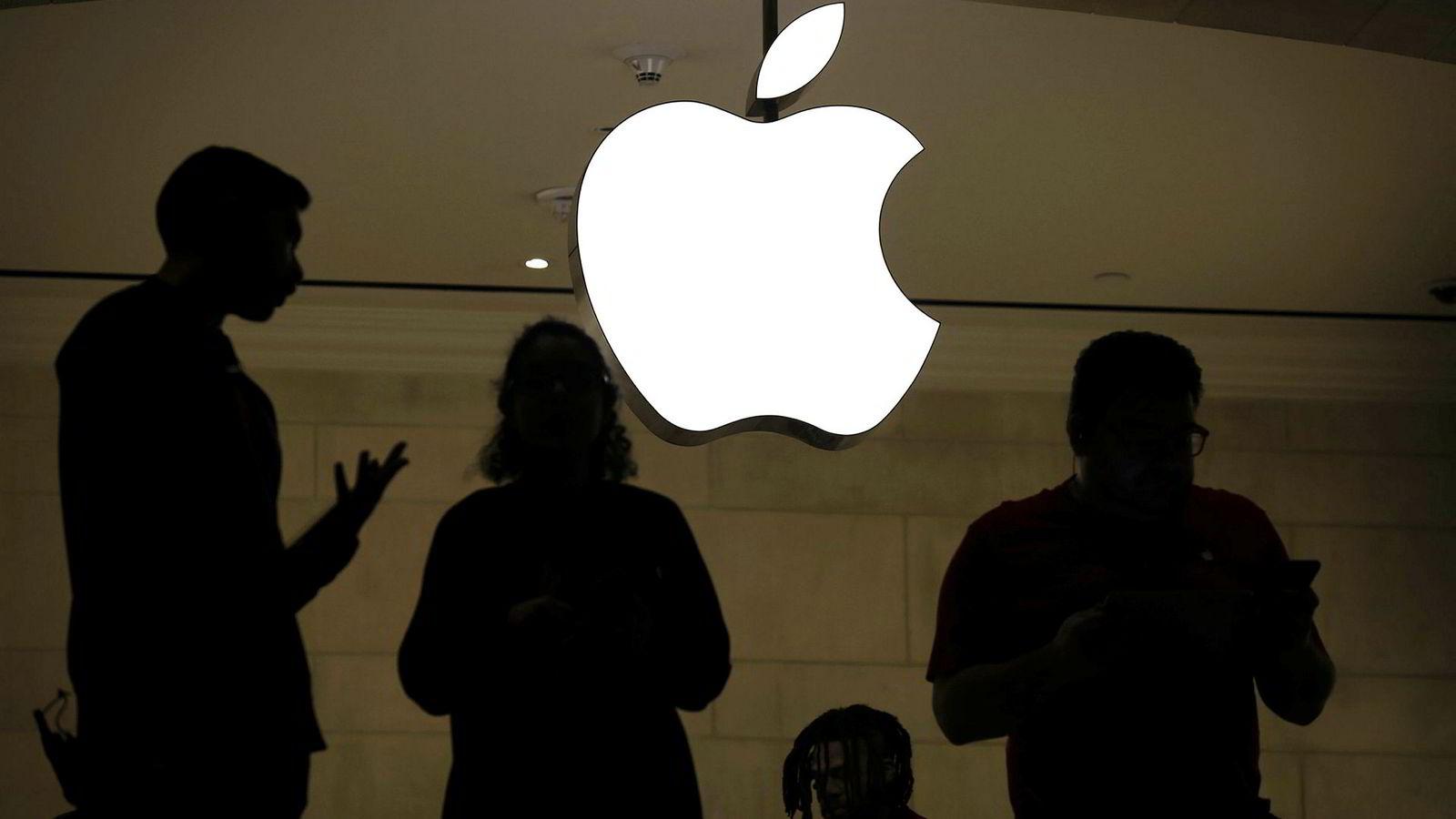 Fra Apples butikk på Grand Central Terminal i New York torsdag, samme dag som selskapet stupte nær ti prosent på børsene og sendte skjelvinger gjennom finansmarkedene i frykt for globale virkninger av nedbremsing i kinesisk økonomi.