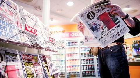 Nordiske Mediedagers årlige undersøkelse for 2018 viste følgende tall for «svær stor» eller «nokså stor» tillit til nyheter i ulike medietyper: Papiraviser 91 prosent, nettaviser 84 prosent, tv 82 prosent, radio 93 prosent.
