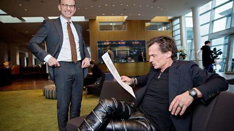 Konsernsjef Torgeir Silseth (til venstre) i Nordic Choice Hotels kan glise bredt etter femdobling av driftsresultatet i årets første fire måneder for hotellkjeden som eies av Petter A. Stordalen.
