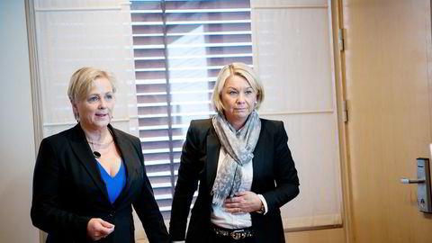 Det ble sendt flere SMS-meldinger mellom næringsminister Monica Mæland (H) og partifelle Thorhild Widvey i forkant av utnevnelsen av Widvey som styreleder i Statkraft. Mæland nekter å offentliggjøre SMS-ene. Foto: Mikaela Berg