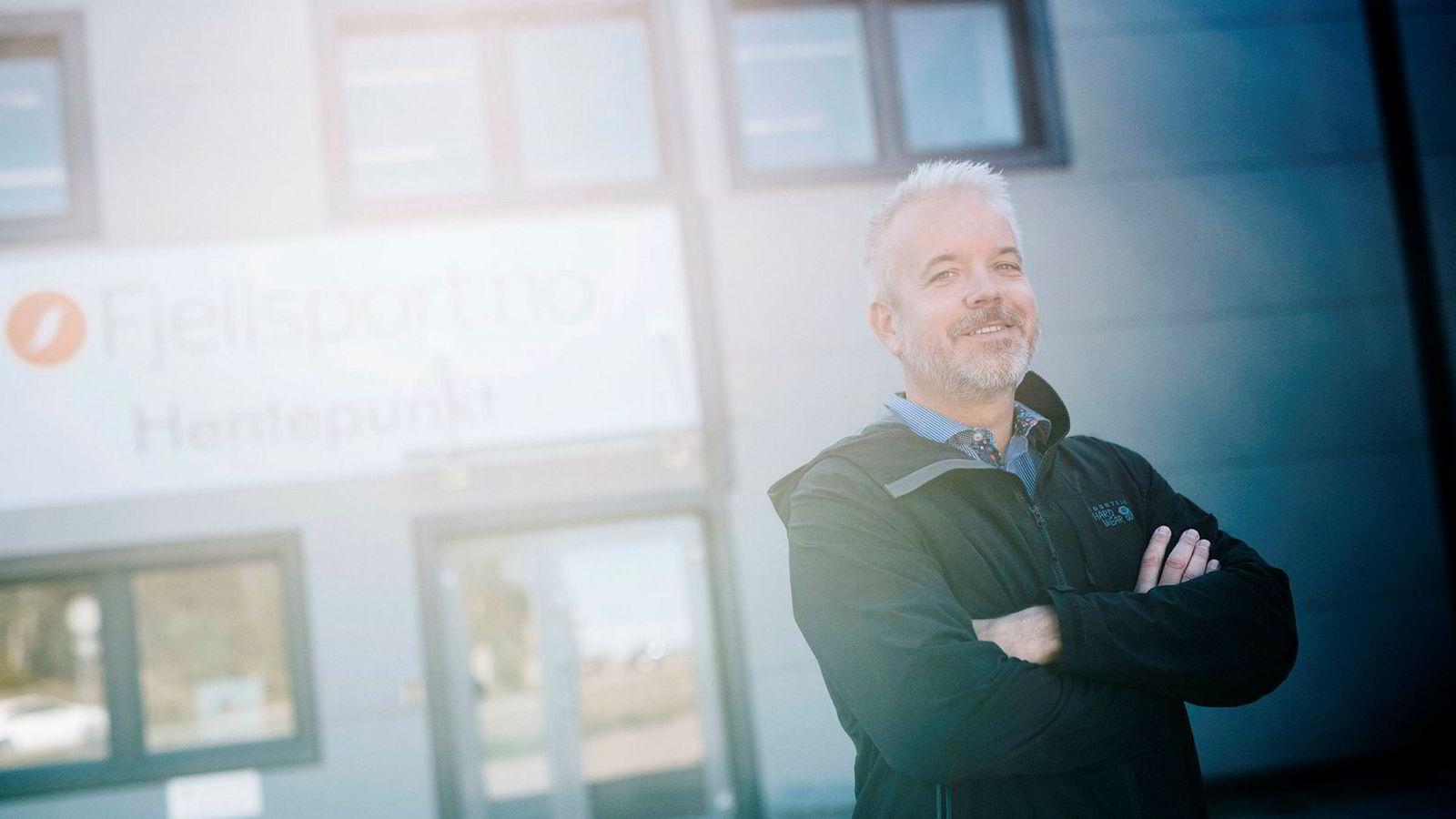 Eric Sandtrø, gründeren som tidligere startet Komplett, driver nå selskapet Fjellsport med stor suksess.