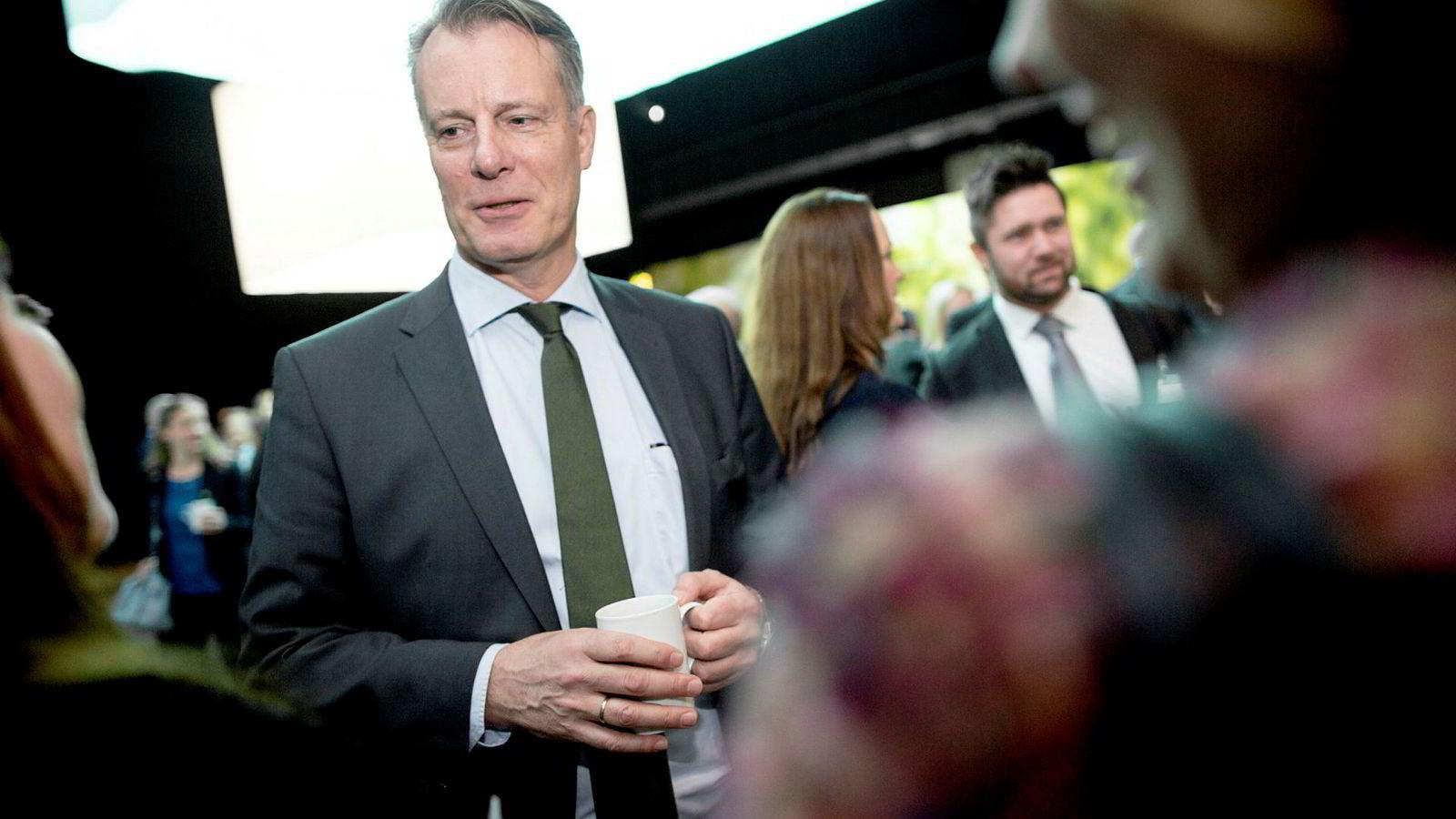 Johan H. Andresen og Ferd fikk medhold i en klage i 2014, like før han ble leder av Etikkrådet. Her på NHOs årsmiddag.