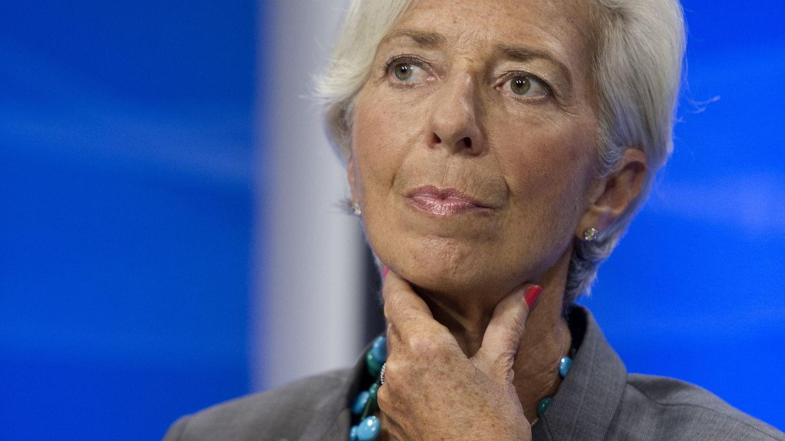 IMF-sjef Christine Lagarde. Illustrasjonsfoto: AP Photo/Cliff Owen