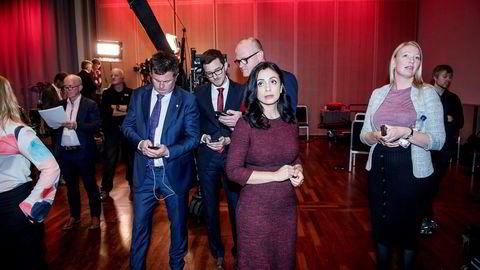 Ap-nestleder Hadia Tajik får en ny rolle på Stortinget. Her er hun under partiets valgvake.