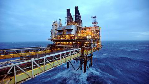 Fra BP-plattformen Eastern Trough Area Project (ETAP) i Nordsjøen øst for Aberdeen i Skottland. Foto: Andy Buchanan/Reuters/NTB scanpix
