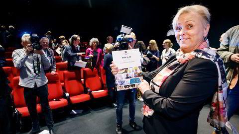 Thorhild Widvey la i mai frem filmmeldingen. Nå kommer også kringkastingsmeldingen. Foto: Heiko Junge /