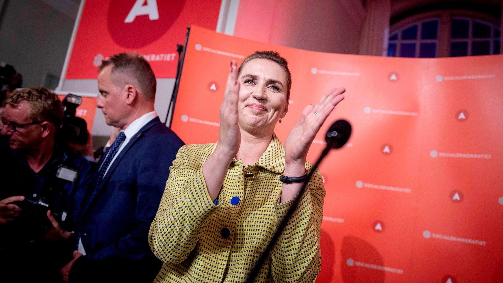 Socialdemokratiets Mette Frederiksen ligger an til å bli Danmarks nye statsminister.
