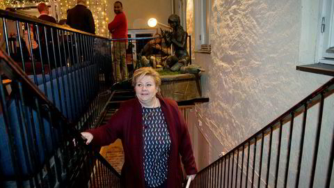 – Venstre vil få mer innflytelse på utviklingen i det norske samfunnet ved å sitte i regjering. Det vil gi partiet muligheter til å bestemme mer av hva som blir den politiske dagsordenen, sa statsminister Erna Solberg under arrangementet «DN Live» onsdag.