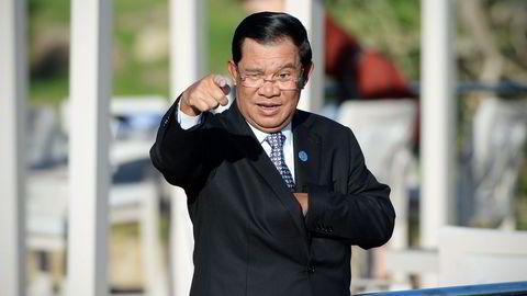 Kambodsjas statsminister Hun Sen nyter godt av å ha alliert seg med Kina. Foto: Wang Zhao/AFP/NTB Scanpix