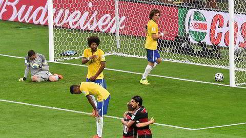 Belo Horizonte, juli 2014. Halvtimen er spilt. Brasil ligger under 0-5 mot Tyskland. Det endte 1-7.