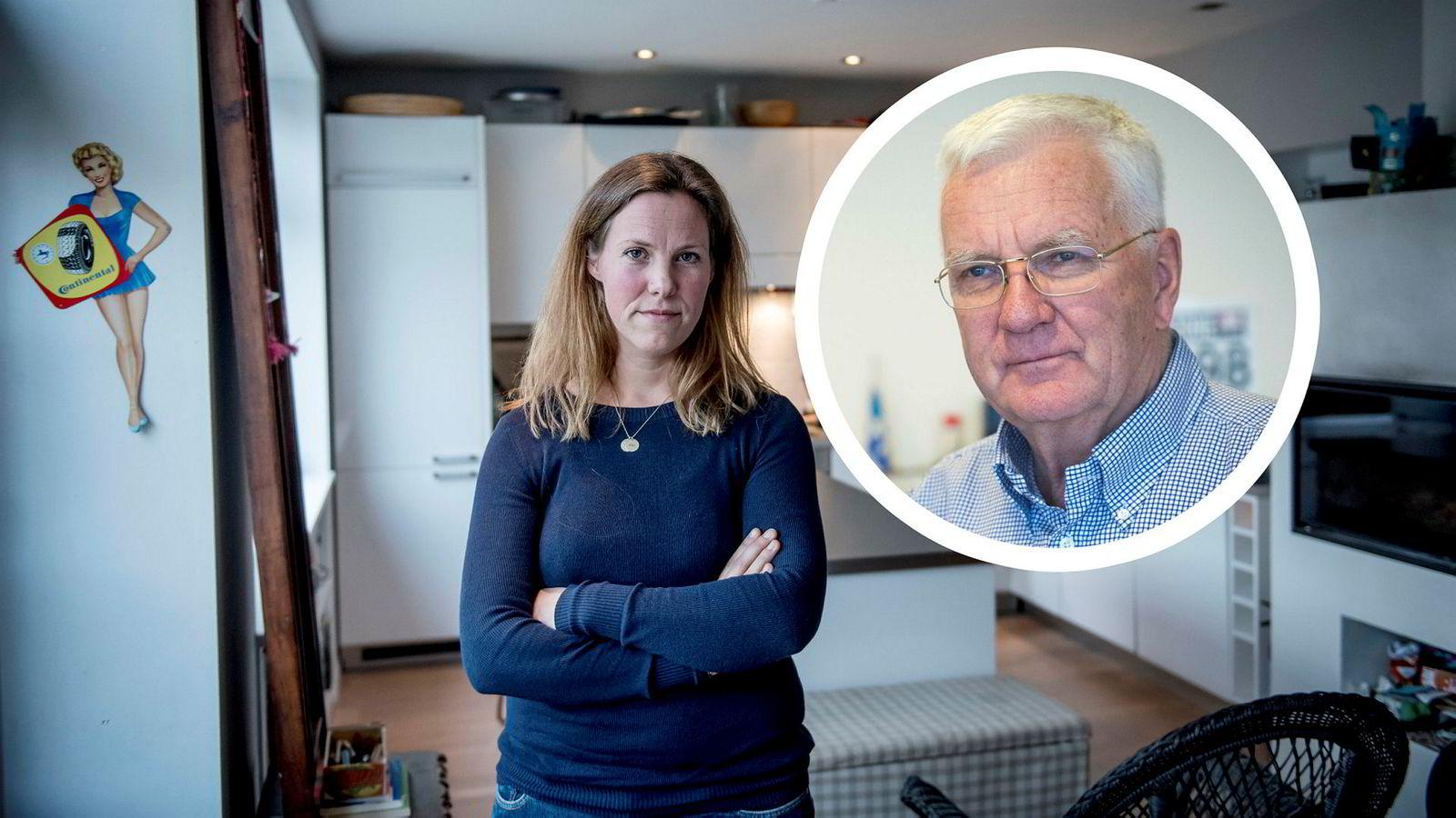 Birgitt M. Liodden, direktør for bærekraft, havromsnæringer og kommunikasjon i Oslo Business Region, og redaktør Trygve Hegnar i Finansavisen.