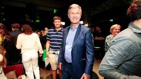 Tidligere SV-statsråd Erik Solheim var strålende fornøyd på MDGs valgvake mandag da hans nye parti gjorde det svært godt, spesielt i Oslo.