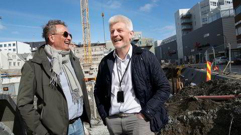 Eiendomsinvestor Roar Dons (til venstre) og hans selskap Pellerin as vil snarest mulig bygge nok et stort sentrumshotell i Tromsø. – Kapasiteten er på bristepunktet, sier Pellerins administrerende direktør Eirik Espejord.
