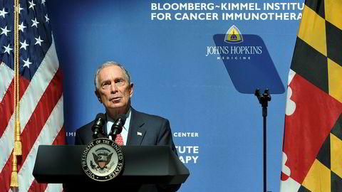 Mangemilliardær Michael Bloomberg anses å være en potensiell kandidat for Demokratene til å kunne slå Trump i presidentvalget for 2020. Her fra lansering av et nytt senter for immunoterapi ved Johns Hopkins i 2016, som han var en betydelig sponsor av.