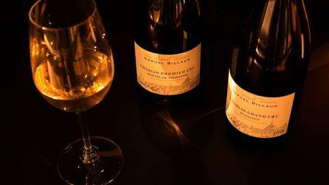 På det norske markedet er det for øyeblikket 14 forskjellige viner fra Samuel Billaud, fra petit chablis til en rekke grand cruer. Alle har en solid forankring i Chablis' tradisjonelle skole, og fremstår som noen av de beste vinene fra regionen. Her er Chablis Grand Cru Blanchot 2018 og Chablis Premier Cru Montée De Tonnerre 2018