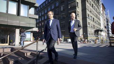 Anthon B Nilsen er en betydelig aktør innenfor utdanning med ulike typer undervisningsinstitusjoner i Norge og Sverige, sier forfatteren. Brødrene Peder (til venstre) og Nicolai Løvenskiold er direktører i selskapet. Foto: Fredrik Solstad