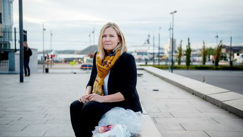 – Vi trenger 50–60 mål, sier gjenvinningssjef Lisa Moen i Fortum om plassbehovet for det planlagte gjenvinningsanlegget.