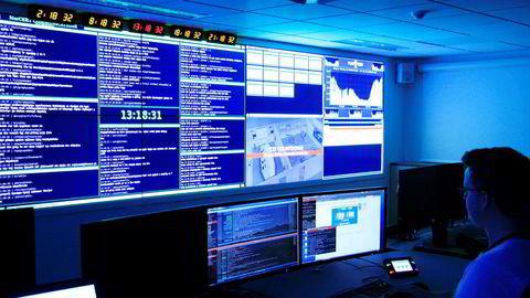 Operasjonssentralen til Nasjonal sikkerhetsmyndighet (NSM) i Oslo. Foto: NSM