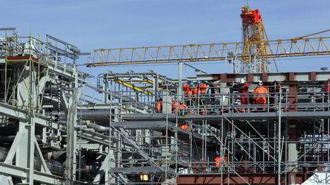 Det er meldt om en gasslekkasje på landanlegget for ilandføring av gass fra Ormen Lange-feltet på Aukra i Møre og Romsdal. Foto: Cornelius Poppe / SCANPIX