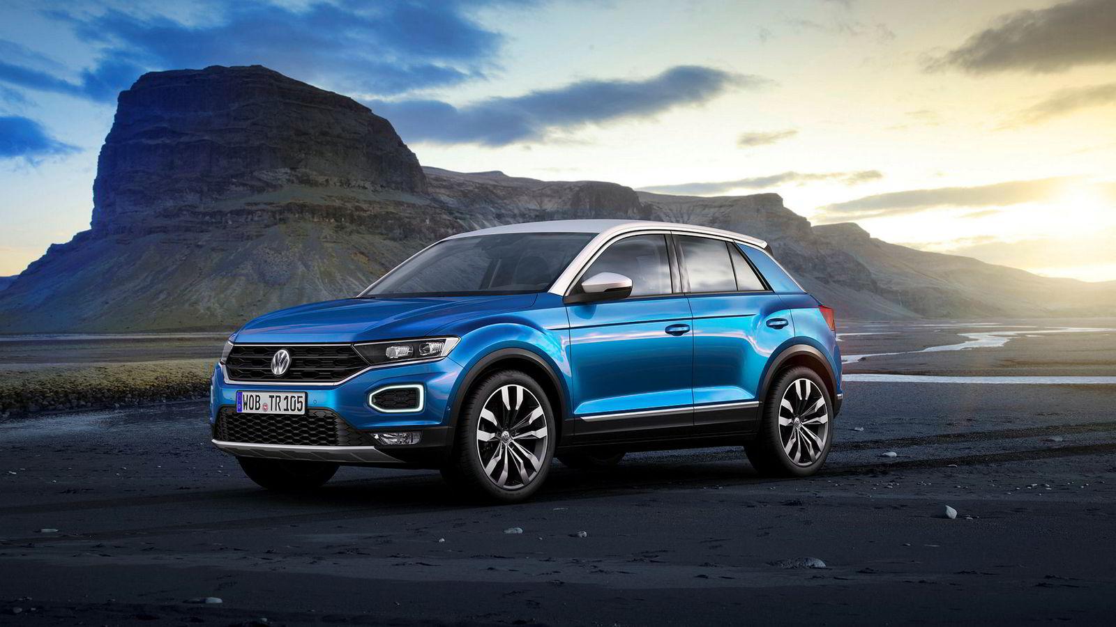 Friske linjer på den nye suven fra Volkswagen: T-Roc.