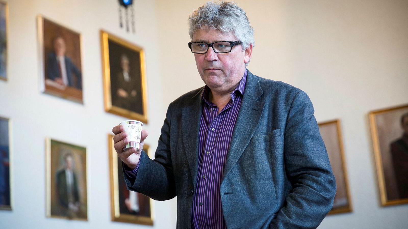 Avbildet er toppsjef i oljeselskapet Okea, Erik Haugane. Han har ståltro på økt oljepris i årene fremover.