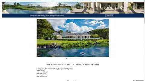 Sotheby's vil ikke selge DN bilder av Tore Hansen-Tangens eiendom Chummery Estate på Barbados, men her er eiendommen slik meglergiganten velger å vise den frem på sine nettsider. Pris: rundt 73 millioner kroner.