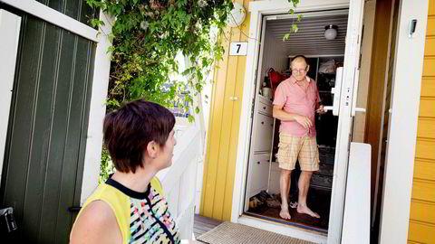 – Jeg synes det er positivt at boligmarkedet roer seg, men ingen er tjent med at det blir en knekk, sier Sven Bjørn Lilleslåtten. Han stortrives i rekkehuset han og kona Cecilie Blytt kjøpte i Kampen hageby i fjor.