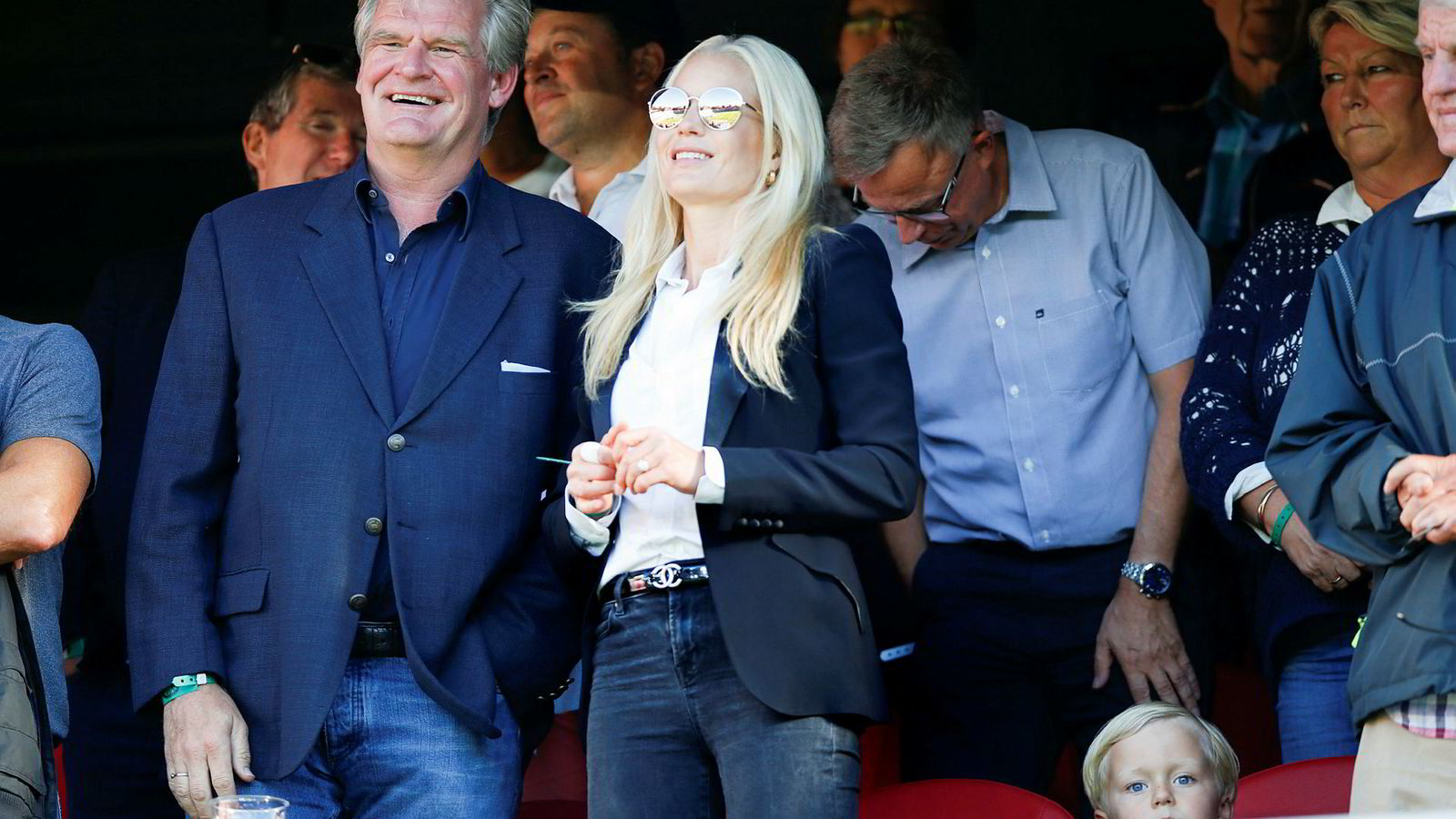 Forloveden til Celina Midelfart, Tor Olav Trøim, eier Vålerenga Fotball. Her er ekteparet avbildet på hjemmekamp mellom VIF og Brann.