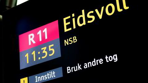 Flere tog kan bli innstilt under den politiske streiken, som varer fra klokka 10 til 13. Foto: Jon Olav Nesvold / NTB Scanpix