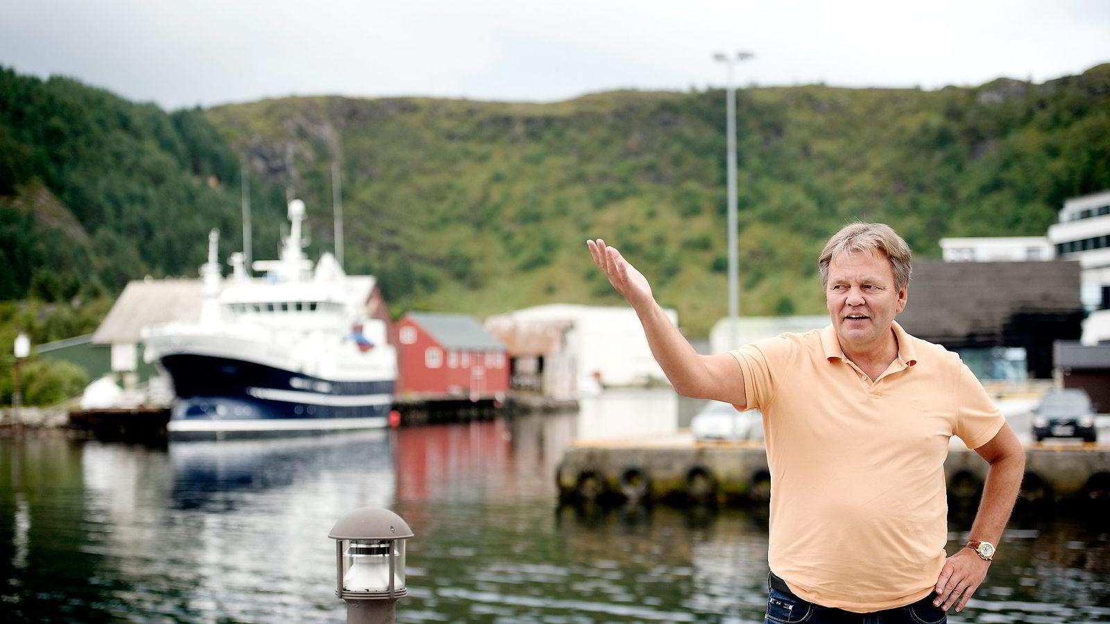 Stig Remøy er styreleder og hovedaksjonær i de kriserammede rederiene Olympic Shipping og Emerald Fisheries.