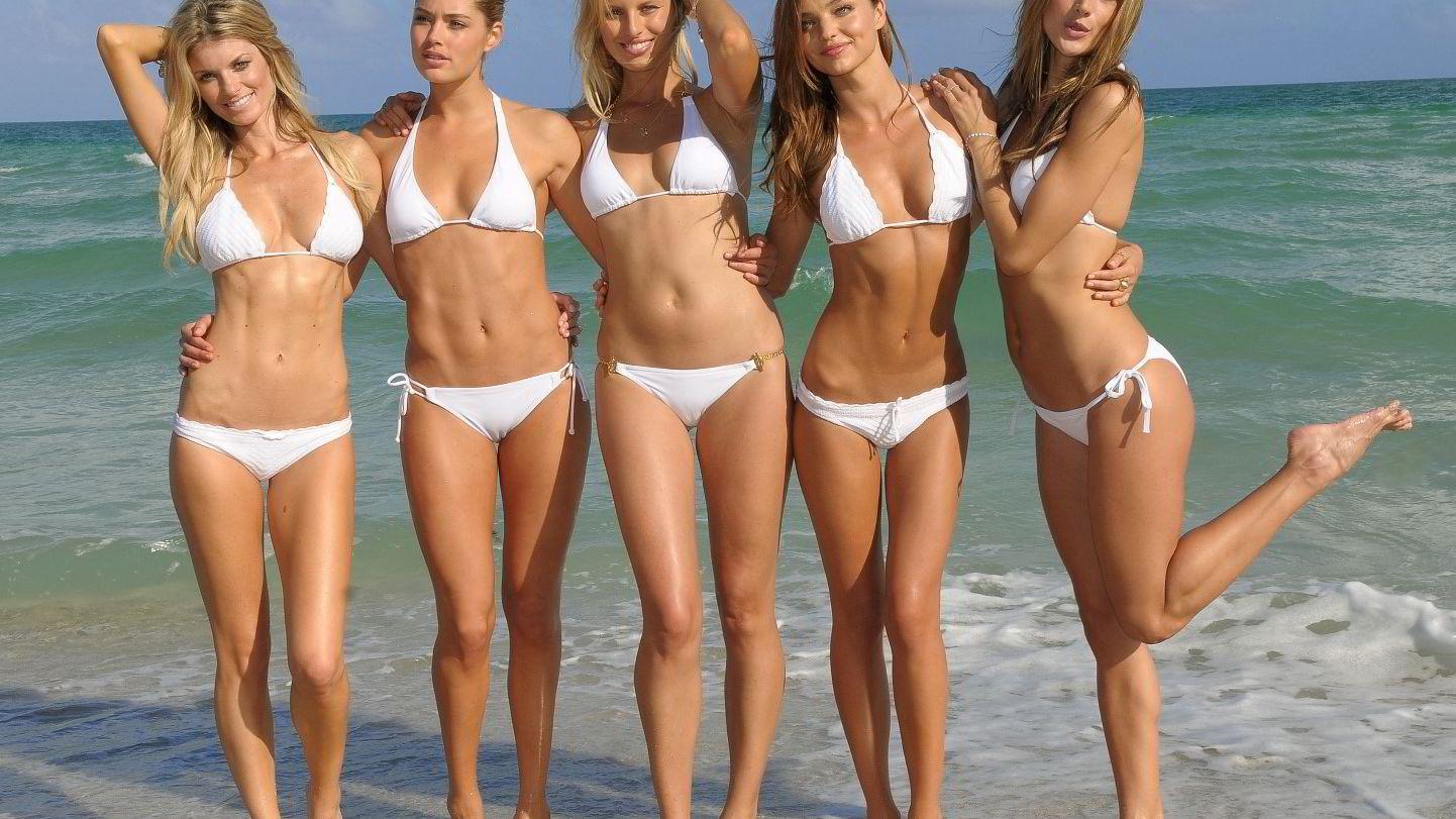 Nei, det er ikke bare gode gener. Disse Victoria's Secret-modellene trener knallhardt for å holde på jobben sin. Foto: Colourbox