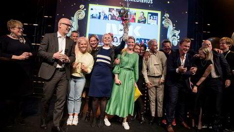NRK kunne juble for den prestisjefulle prisen «Årets mediehus» på Ole Bull Scene i Bergen.